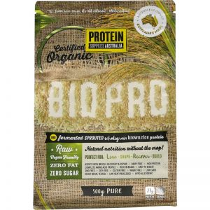 Protein Supplies Australia BioPro Sprouted Brown Rice Pure 500g Dairy Free Store