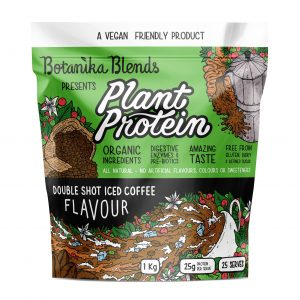 BOTANIKA BLENDS Plant Protein Double Shot Iced Coffee 1kg Dairy Free Store