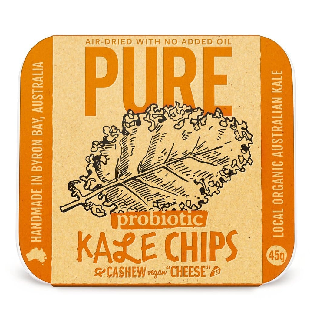 EXTRAORDINARY FOODS Pure - Kale Chips Cashew Vegan 'Cheese' 45g Dairy Free Store