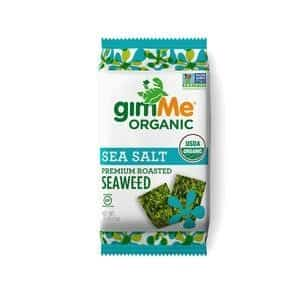 Gimme Organic Sea Salt Roasted Seaweed Snacks 10g Dairy Free Store