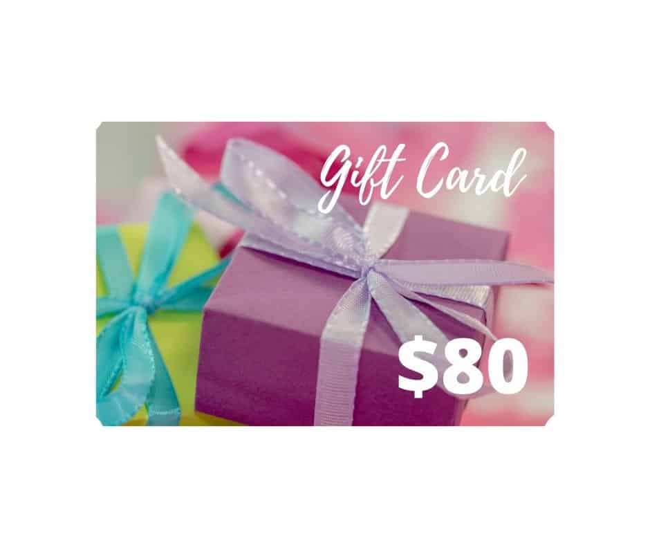 $80 gift card dairy free store
